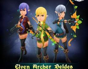 3D asset Elven Archer Beldes