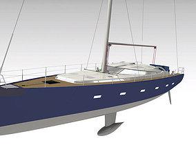 3D model Yacht boat