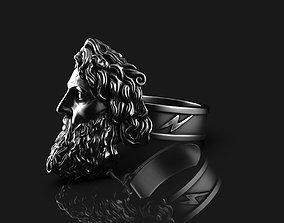 Zeus Thunder God Ring 3D print model