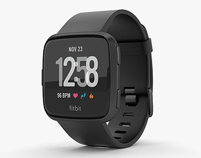 3D model Fitbit Versa Black