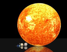 game-ready Solar system 3D asset package