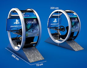 3D asset Sony Racing Simulator - Gt Pod - Sony Booth