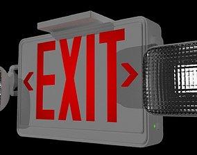Exit Sign 3D architectural