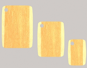 3D asset Wooden chopping boards set2