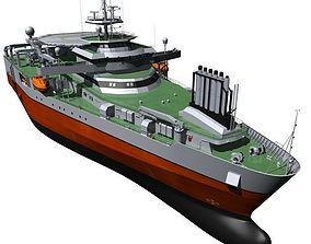 Seismic Survey Vessel 3D