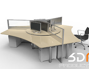 3D Office Desk and Chair