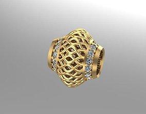 wicker patterned charm ball 3D print model