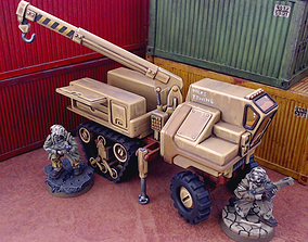 3D printable model Halftrack Recovery - 28mm Sci-Fi