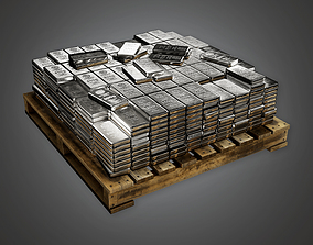 3D model Bank Silver Stack BHE - PBR Game Ready