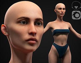 3D model Skinny woman body