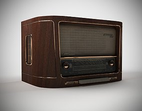 3D model low-poly Antique Radio