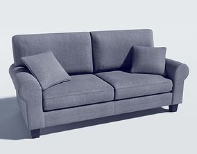 sofa - buxton 73 rolled arm 3D model