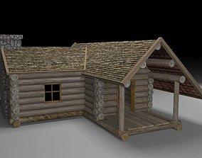 3D model Wooden cabin