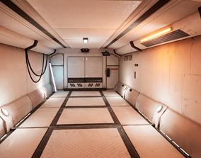 Cyber spaceship 3D asset