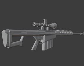 sniper Barrett cal 3D model
