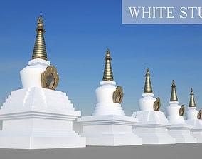 3D model White Stupa