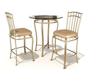 Table Chair Set 55 Am54 3D model