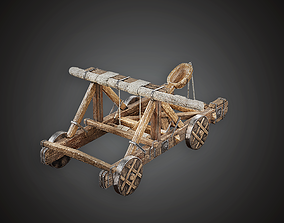 Catapult - MVL - PBR Game Ready 3D model