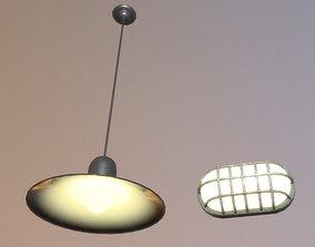 old prison lighting 3D asset