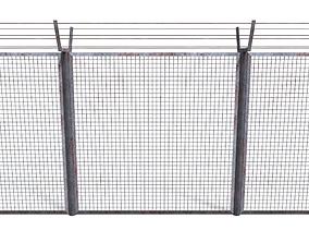 Low Poly Modular Fence 8 3D asset