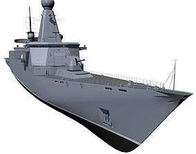 3D model Guided Missile Destroyer