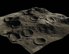Moon crater 3D nasa