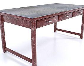 3D asset Industrial Metal Table