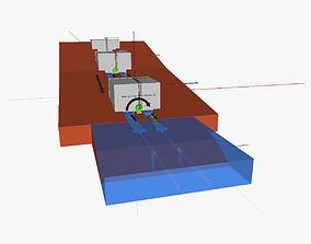 3D model Water based freight trasport