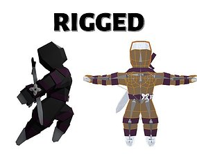 3D model Origami ninja RIGGED