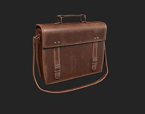 Leather Satchel - Leather Bag - Leather 3D asset