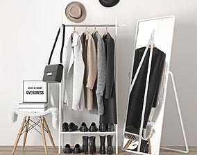 3D model clothes hanger wardrobe