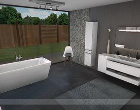 3D asset Modern bathroom 3