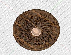 Wooden Sun Symbol 3D print model