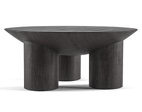 charcoal 3D Tom Charcoal Three-Legged Coffee Table