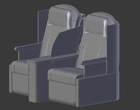 3D model Business class Untextured