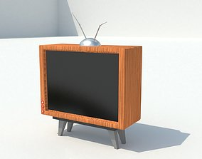 living Old Fashioned TV 3D