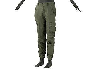 3D model Mens Regular Pants 2