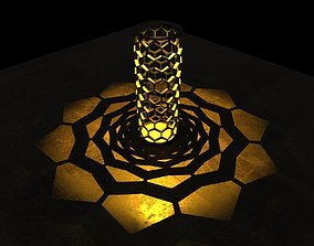 3D printable model Honeycomb shaped Candle shade