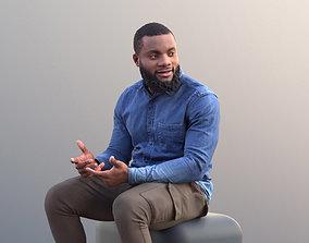 3D asset Gabriel 10635 - Black Man Sitting In Consersation