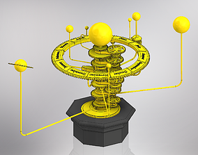 3D printable model Solar System Orrery