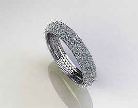 3D print model Eternity ring with pave diamonds