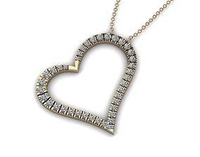 Heart Jewelry Pendant 03 3D print model heart