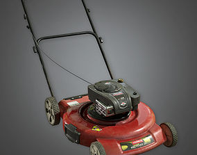 3D asset Push Lawnmower TLS - PBR Game Ready