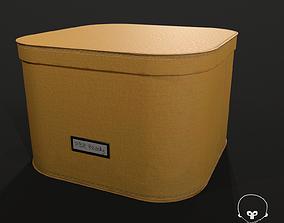 3D model low-poly Designer Storage Box - used item