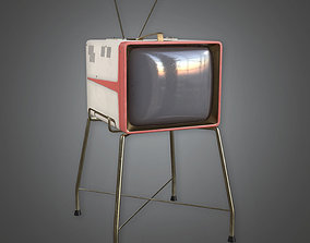 3D model Retro Television Midcentury Collection PBR Game