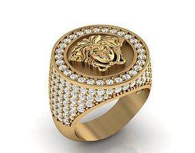 Medusa ring 3D print model jewelry