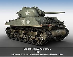 3D M4A3 75mm - Sherman - 50