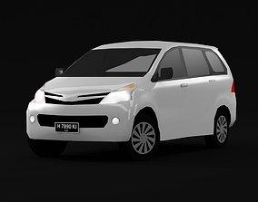 3D model Low Poly Toyota Avanza