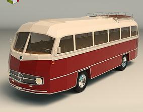 Low Poly Vintage Bus 02 3D asset