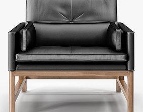 BassamFellows Low Back Lounge Chair 3D model